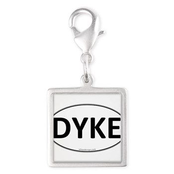 DYKE Euro Oval Silver Square Charm