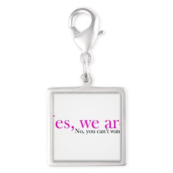 Yes, we are. Silver Square Charm