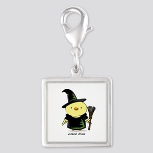 Wicked Chick Silver Square Charm