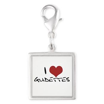 I Heart Guidettes Silver Square Charm
