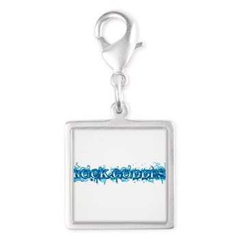 Rock Goddess Silver Square Charm