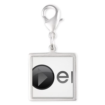 Player Silver Square Charm