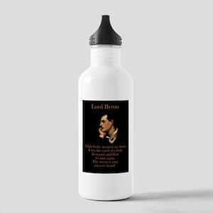 A Light Broke - Lord Byron Water Bottle