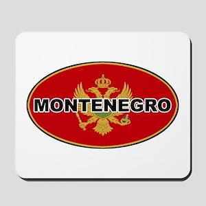 Montenegro Oval Flag Mousepad