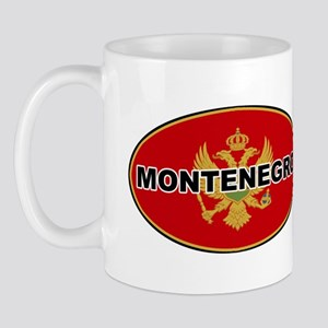 Montenegro Oval Flag Mug