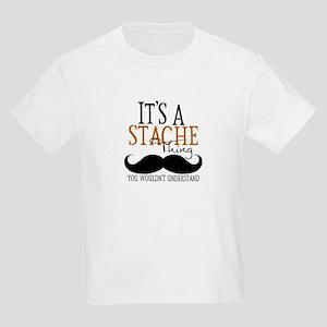 It's A Stache Thing Kids Light T-Shirt