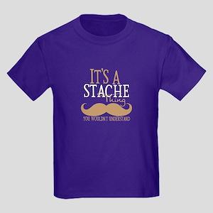 It's A Stache Thing Kids Dark T-Shirt