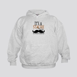 It's A Stache Thing Kids Hoodie