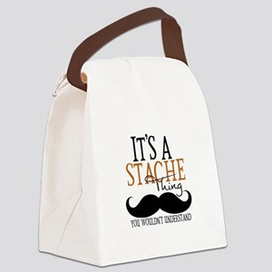 It's A Stache Thing Canvas Lunch Bag