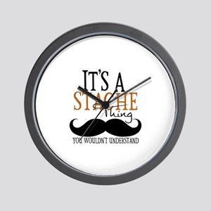 It's A Stache Thing Wall Clock