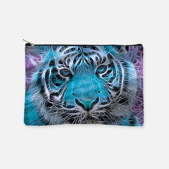 Crazy blue Tiger (C) Makeup Pouch