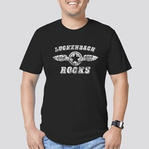 LUCKENBACH ROCKS Men's Fitted T-Shirt (dark)