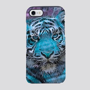 Crazy blue Tiger (C) iPhone 7 Tough Case