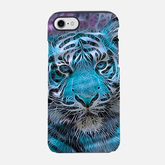 Crazy blue Tiger (C) iPhone 7 Tough Case