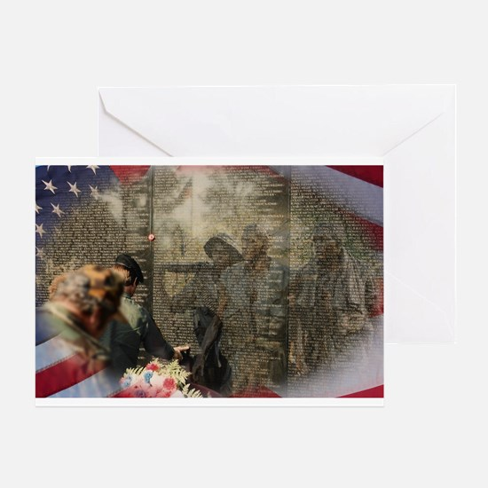 Vietnam Veterans' Memorial Greeting Card