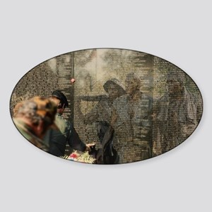 Vietnam Veterans' Memorial Oval Sticker