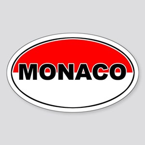 Monaco Oval Flag Oval Sticker