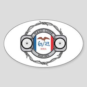 Iowa Biking Oval Sticker