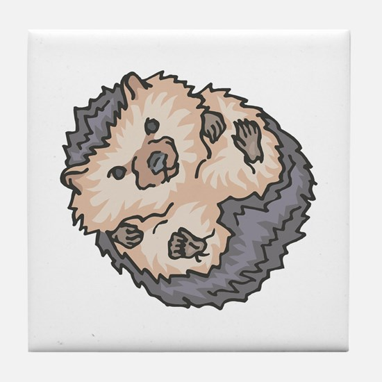Cute Little Hedgehog Tile Coaster