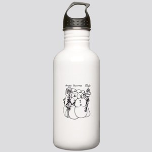 Angry Snowmen Mob Stainless Water Bottle 1.0L