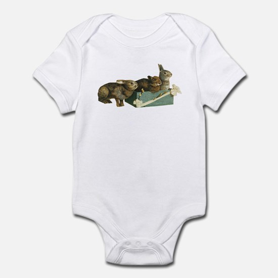 Three Bunnys (Front only) Infant Bodysuit