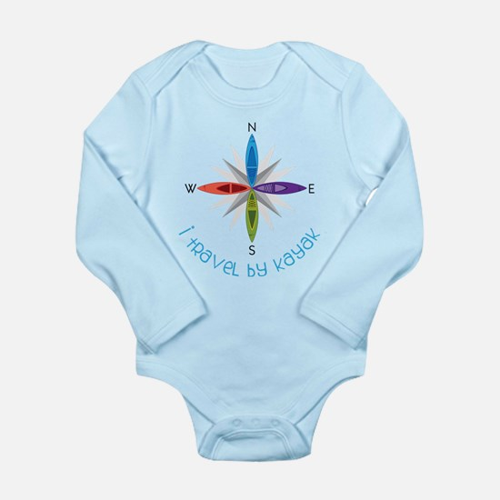 Travel By Kayak Long Sleeve Infant Bodysuit