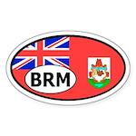 Bermuda flag banner Oval Sticker