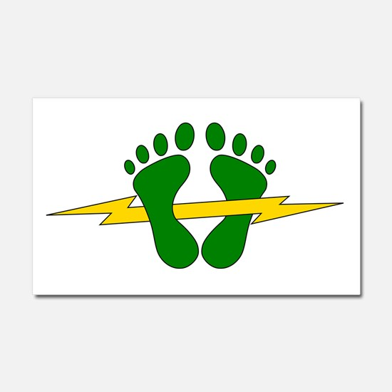 Green Feet - PJ Car Magnet 20 x 12