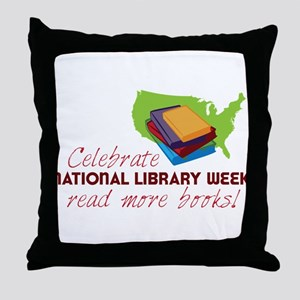 Library Week Throw Pillow