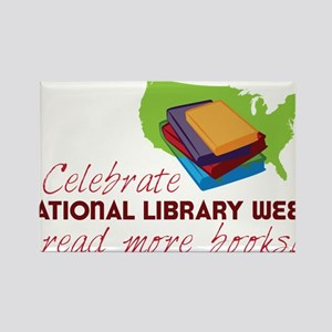 Library Week Rectangle Magnet