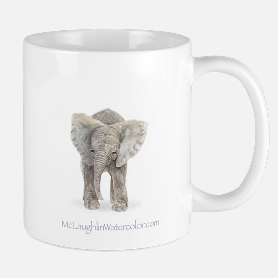 Mother and baby elephant Mug