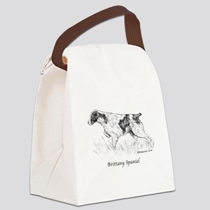 Brittany Spaniel Canvas Lunch Bag
