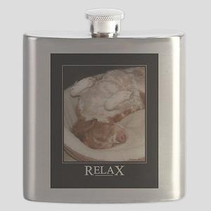 Brittany Spaniel Flask