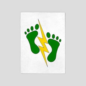 Green Feet 2 - PJ 5'x7'Area Rug