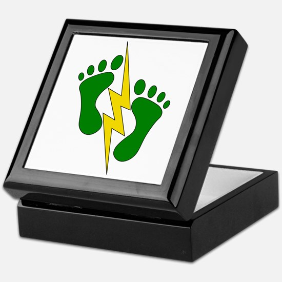 Green Feet 2 - PJ Keepsake Box