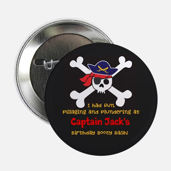 Pirate Party Favor Personalized Button Pin Flair