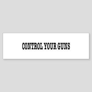 CONTROL YOUR GUNS, t shirts, gifts Sticker (Bumper