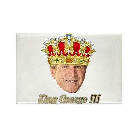 King George III v2 Rectangle Magnet