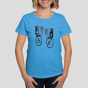 Comedy & Tragedy Women's Dark T-Shirt