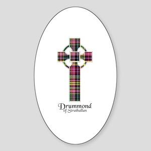 Cross - Drummond of Strathallan Sticker (Oval)