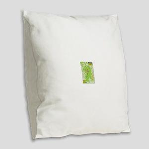 Yellowstone National Park Burlap Throw Pillow