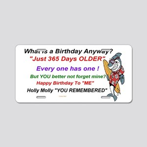 Birthday Remembered Aluminum License Plate