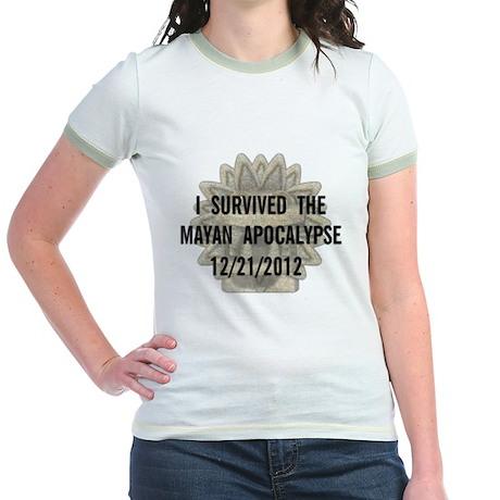 I Survived the Mayan Apocalypse Jr. Ringer T-Shirt