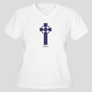 Cross - Elliot Women's Plus Size V-Neck T-Shirt