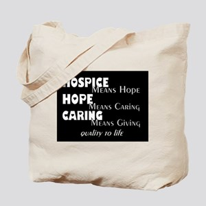 Hospice 2013 hope bw blanket Tote Bag
