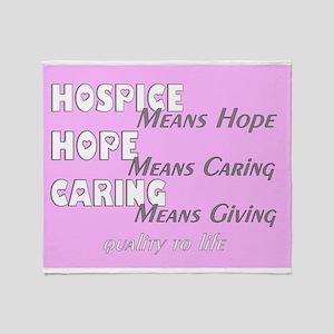 Hospice 2013 hope pink blanket Throw Blanket