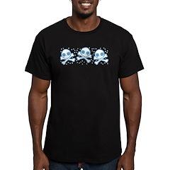 Cute Blue Skulls Men's Fitted T-Shirt (dark)