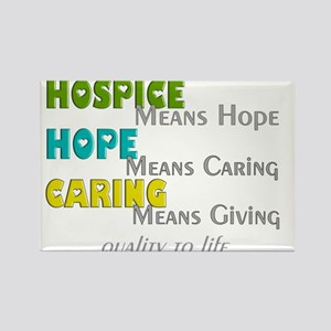 Hospice 2013 hope green blue Rectangle Magnet