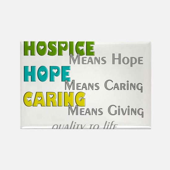 Hospice 2013 hope green blue.PNG Rectangle Magnet
