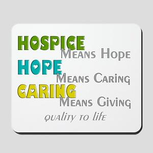 Hospice 2013 hope green blue Mousepad
